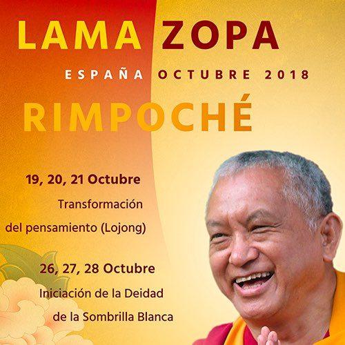 Enseñanzas con Lama Zopa Rimpoché en Madrid